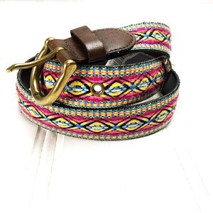 Mossimo Multicolor Southwest Embroidered Belt